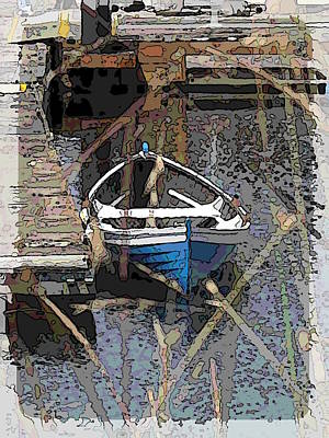 The Rowboat Print by Tim Allen