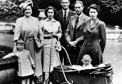 The Royal Family, L-r Prince Charles Print by Everett