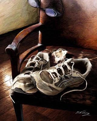 Sneakers Digital Art - The Runner by Bill Fleming