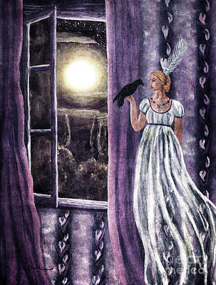 The Rustling Purple Curtains Print by Laura Iverson