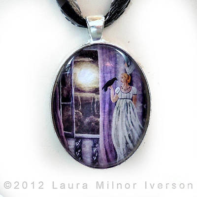 The Rustling Purple Curtains Pendant Original by Laura Iverson