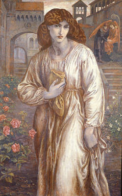 Medieval Painting - The Salutation  by Dante Charles Gabriel Rossetti