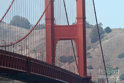 The San Francisco Golden Gate Bridge - 7d19057 Print by Wingsdomain Art and Photography