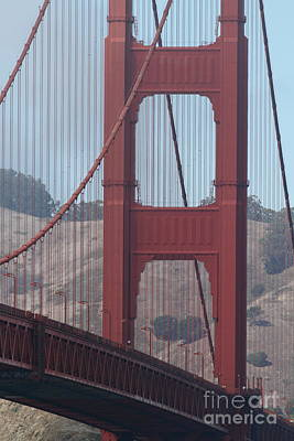 The San Francisco Golden Gate Bridge - 7d19061 Print by Wingsdomain Art and Photography