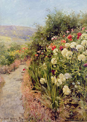 Walking Path Painting - The Sand Garden Ballaterson Isle Of Man by Henry John Yeend King
