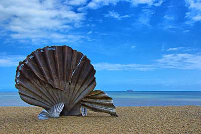 The Scallop. Aldeburgh Beach Print by Chris Thaxter