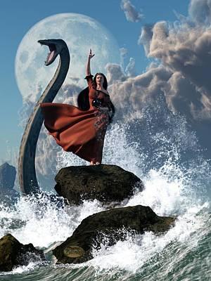 Monster Digital Art - The Sea Witch by Daniel Eskridge