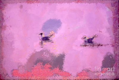 The Seagulls Print by Odon Czintos