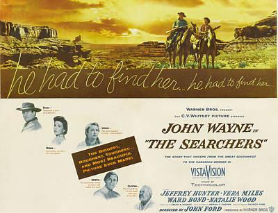 The Searchers, John Wayne, Natalie Print by Everett