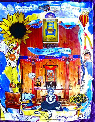 Shirley Temple Mixed Media - The Seat Of The Temple by Lauren Brenner