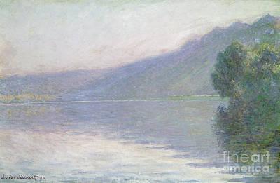The Seine At Port Villez Print by Claude Monet