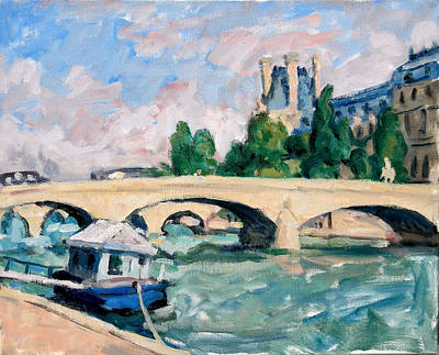 Rights Painting - The Seine Paris by Thor Wickstrom