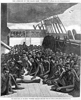 The Slave Deck Of The Ship Wildfire Print by Everett