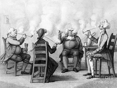 The Smoking Club Print by Granger