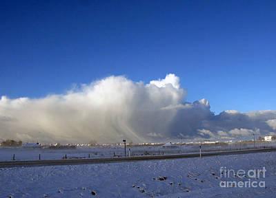 The Snowstorm Is Coming 01 Print by Ausra Huntington nee Paulauskaite