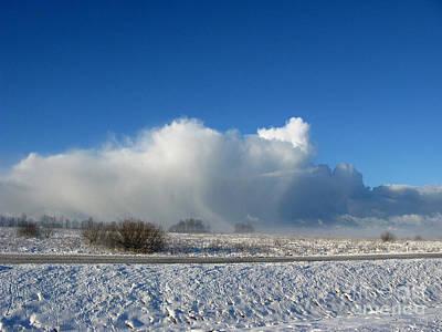 The Snowstorm Is Coming 02 Print by Ausra Huntington nee Paulauskaite