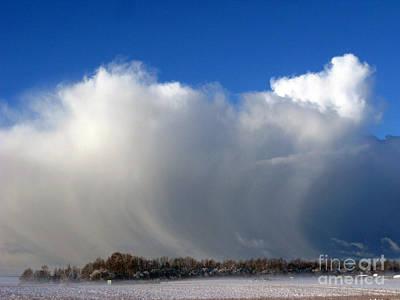 The Snowstorm Is Coming 03 Print by Ausra Huntington nee Paulauskaite