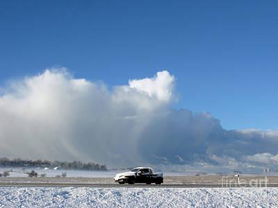 The Snowstorm Is Coming 04 Print by Ausra Huntington nee Paulauskaite
