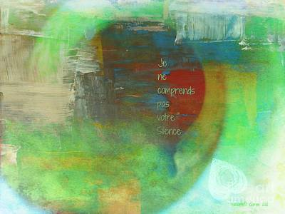 Visual Communication Digital Art - The Sound Of Your Silence - I Don't Understand by Fania Simon