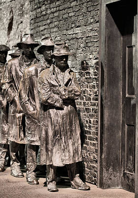Bread Line Photograph - The Soup Line by JC Findley