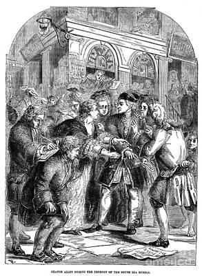 The South Sea Bubble, 1720 Print by Granger