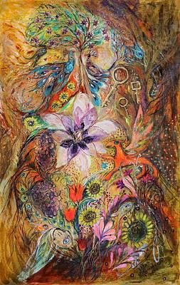 Swarovski Crystal Painting - The Spirit Of Garden by Elena Kotliarker
