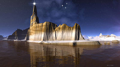 The Star Of Bethlehem Greetings To The World Print by Heinz G Mielke