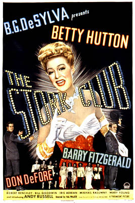 Postv Photograph - The Stork Club, Don Defore, Betty by Everett