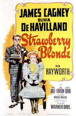 The Strawberry Blonde, James Cagney Print by Everett
