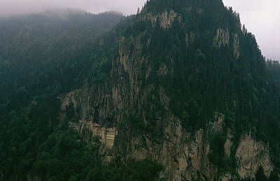 The Sumela Monastery Clings To Mountain Print by Randy Olson