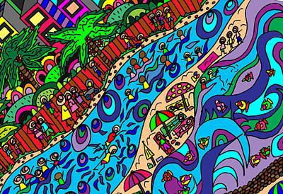 The Surf Comes In Print by Karen Elzinga