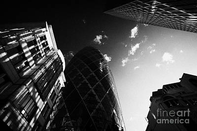 The Swiss Re Gherkin Building At 30 St Mary Axe City Of London England Uk United Kingdom Print by Joe Fox
