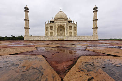 The Taj Mahal After Monsoon Rain Print by Jeremy Woodhouse