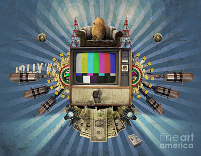 Potato Digital Art - The Television Will Not Be Revolutionised by Rob Snow