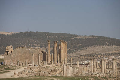 Jerash Photograph - The Temple Of Artemis In The Ruins by Taylor S. Kennedy