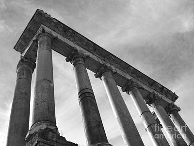 The Temple Of Saturn Print by Chris Hill