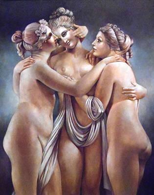 The Three Graces Print by Geraldine Arata
