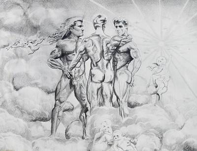 Cloudscape Drawing - The Three Graces by Thomas J Nixon