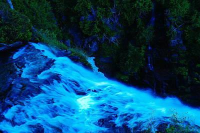 The Top Of Narada Falls Print by Jeff Swan