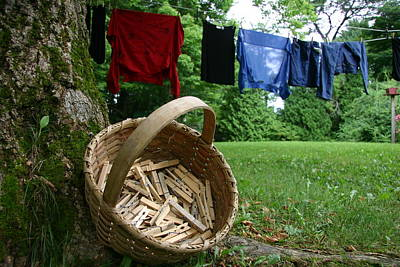 Etc. Photograph - The Traditional Approach To Washday by Stephen St. John