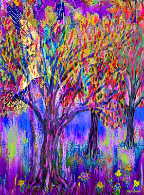 The Trees Are Singing Print by Robin Jensen