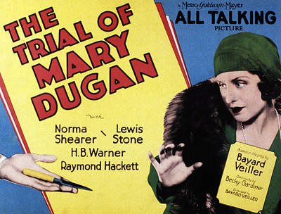 Cloche Hat Photograph - The Trial Of Mary Dugan, Norma Shearer by Everett