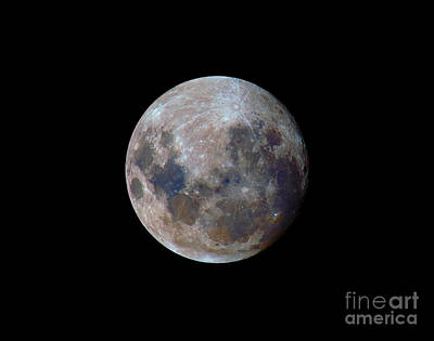 The True Colors Of The Moon Print by Luis Argerich
