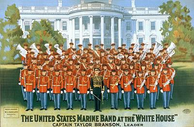 Branson Photograph - The United States Marine Band by Everett