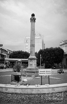 The Venetian Column In Ataturk Square Nicosia Trnc Turkish Republic Of Northern Cyprus Print by Joe Fox