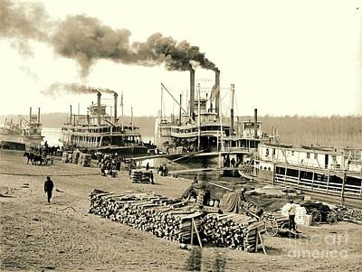 The Vicksburg Levee In Mississippi 1903 Print by Padre Art