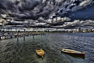 St.kilda Photograph - The View From St Kilda Pier-melbourne City Skyline Australia V2 by Douglas Barnard