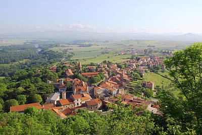 Y120817 Photograph - The Village Of Nonette  In Auvergne by Martial Colomb