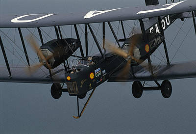 Historical Reenactments Photograph - The Vimy In The Air Near Sydney by James L. Stanfield