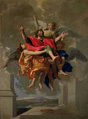 The Vision Of St. Paul Print by Nicolas Poussin